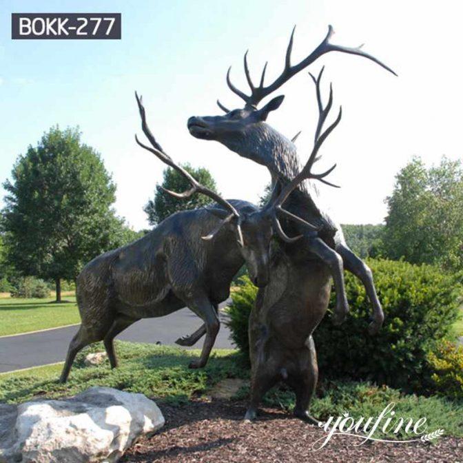В натуральную величину Две Бронзовые Статуи Оленя Садовое украшение для продажи