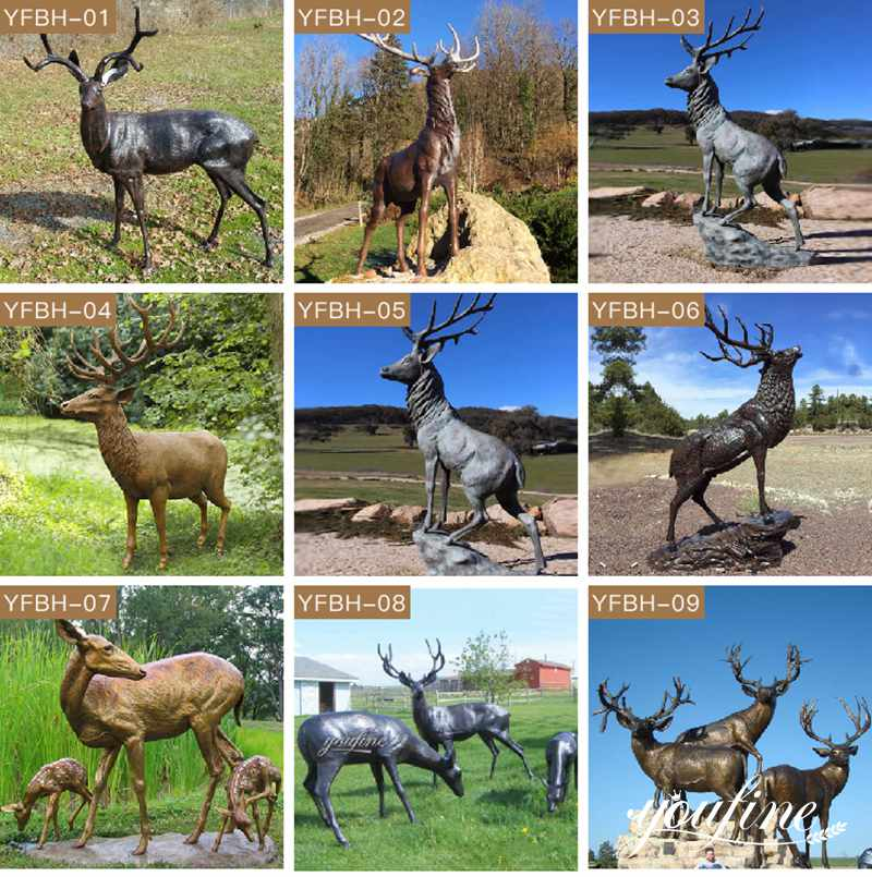 бронзовая статуя лося
