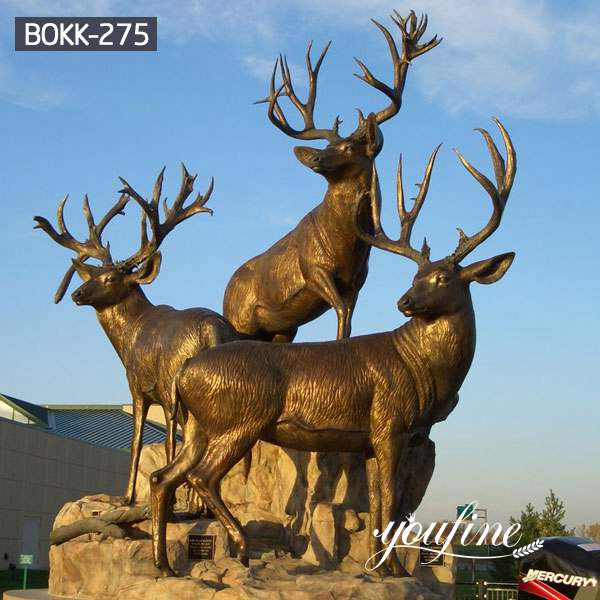 бронзовая статуя оленя, статуи оленя вBOKK-275