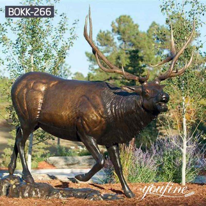 Антикварная Бронзовая Статуя Лося в натуральную Величину Садовый Декор в продаже