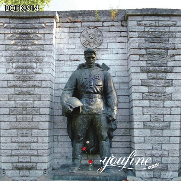 Большая бронзовая статуя военного солдата для Мемориального парка на продажу BOKK-914