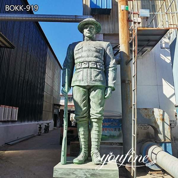 Изготовленная на заказ Большая Бронзовая Статуя Солдата На Открытом Воздухе Военные Статуи для Продажи