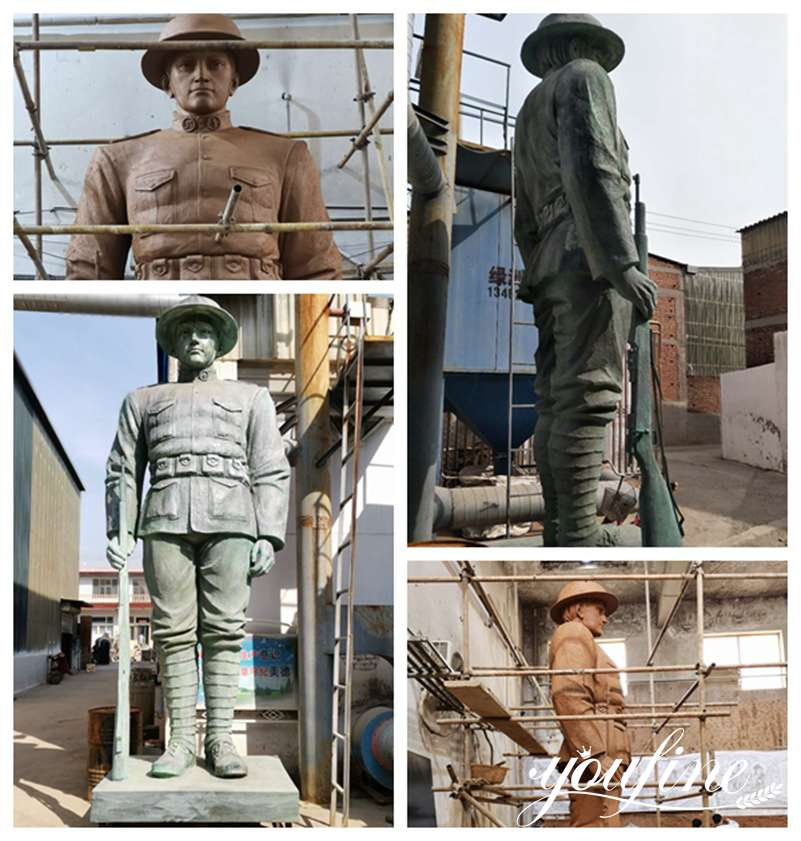 Статуя военного солдата