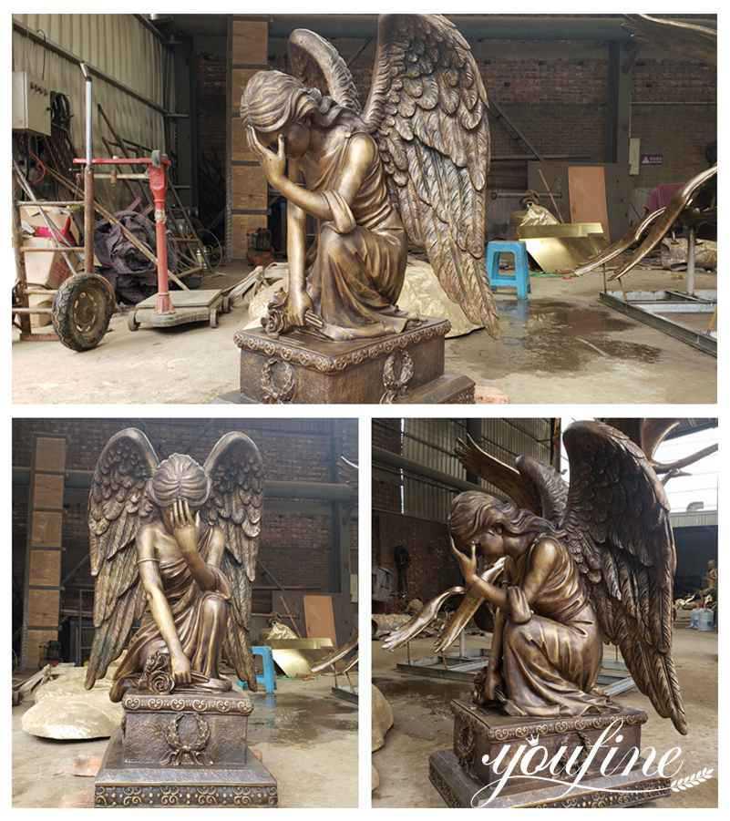 большая бронзовая статуя ангела