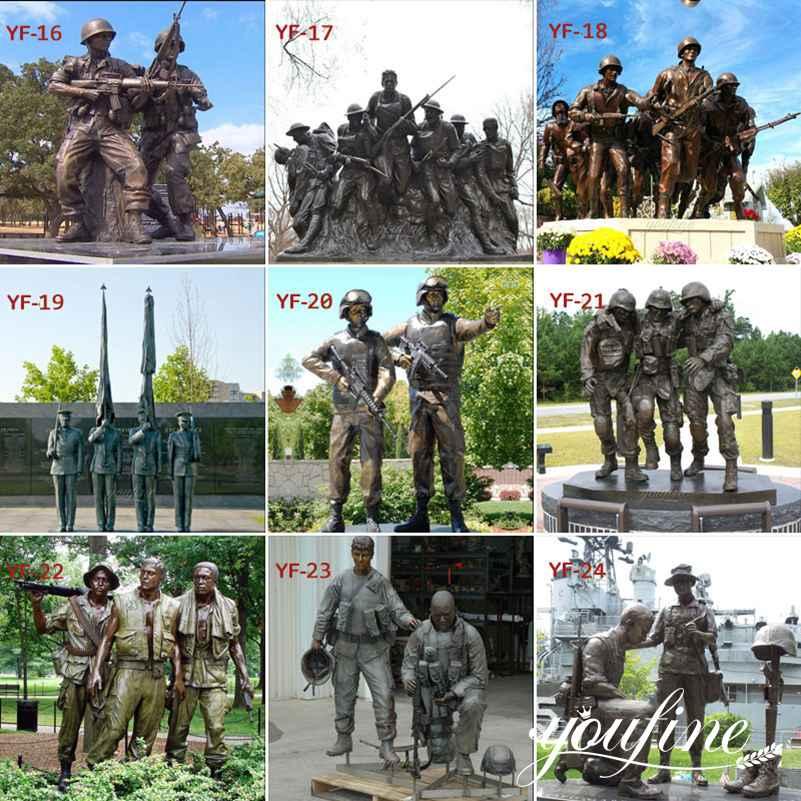 бронзовая статуя солдата для продажи
