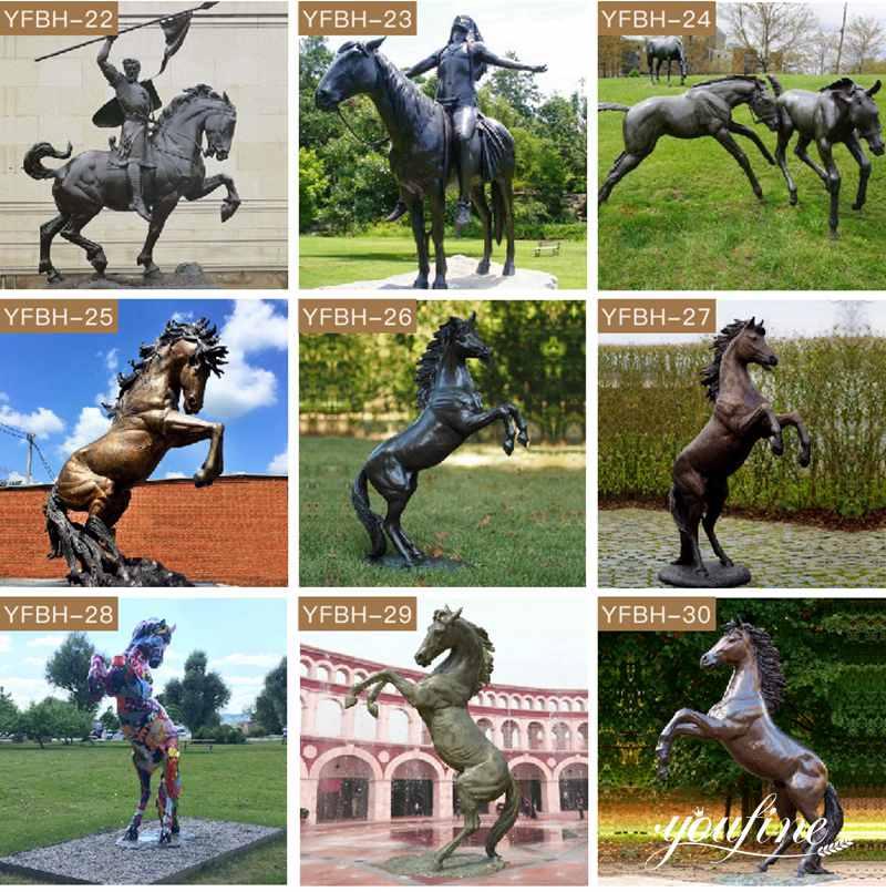 бронзовые статуилошадей для продажи