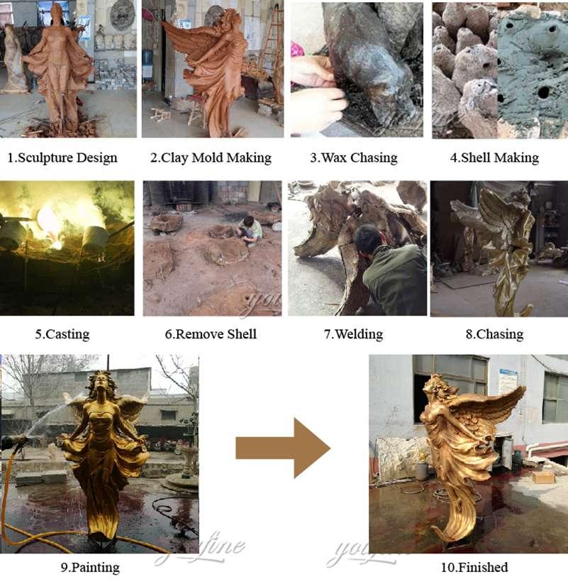 1 бронзовая статуя ангела