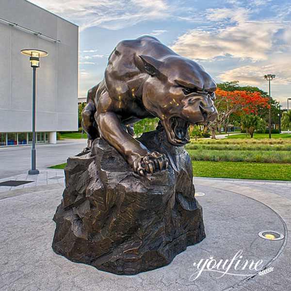Большая Бронзовая Статуя Леопарда Садовый Декор для продажи BOKK-594