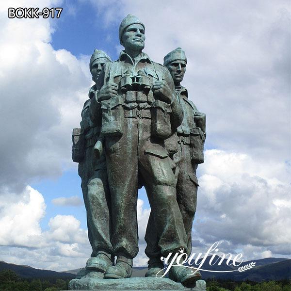 Большой Памятник Коммандос Бронзовая статуя Солдата для продажи BOKK-917