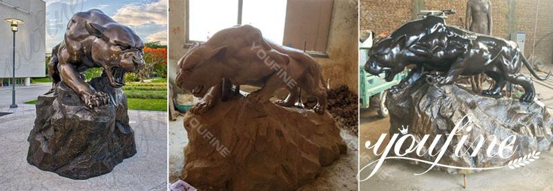 Бронзовая статуя леопарда