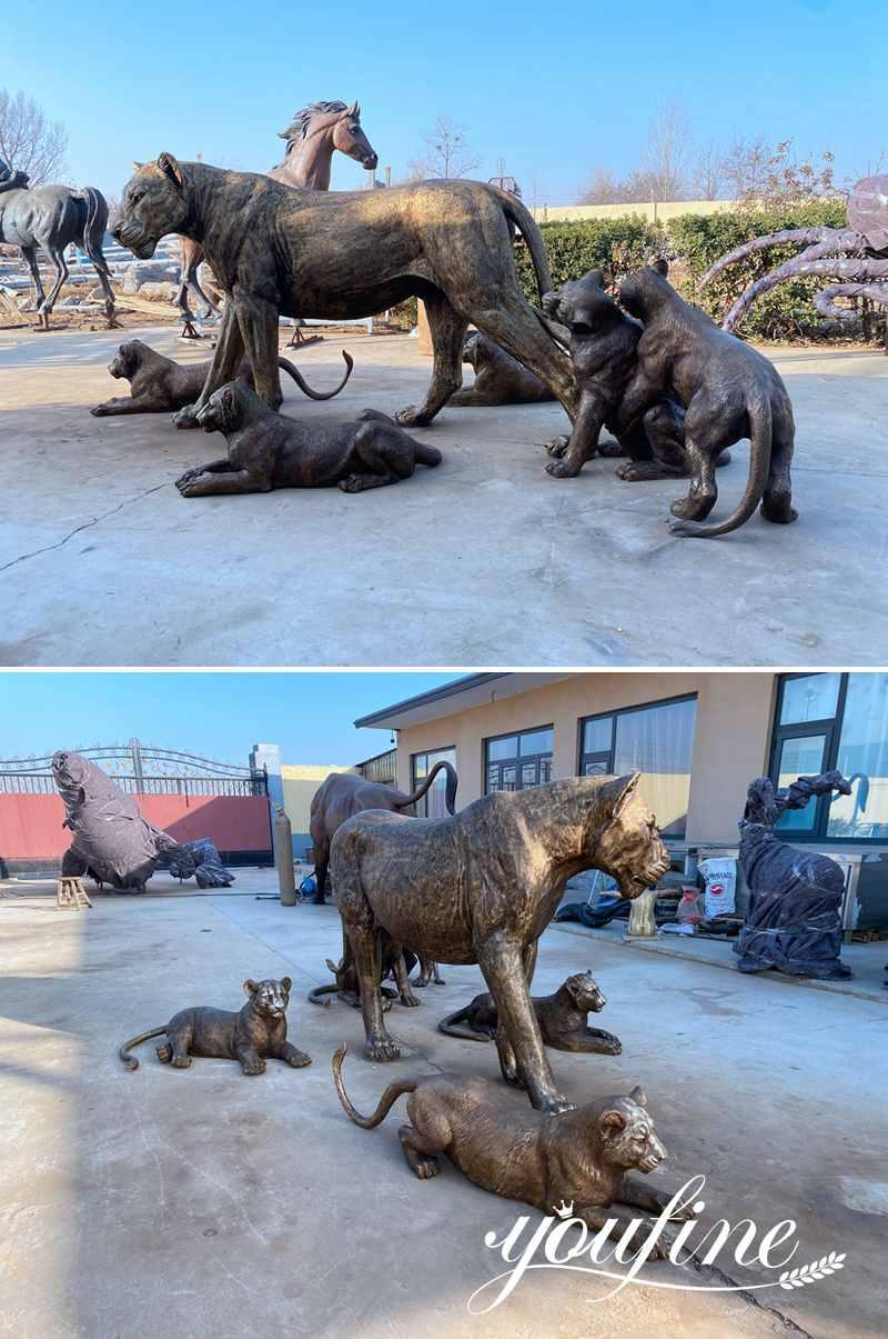 бронзовая статуя льва в натуральную величину