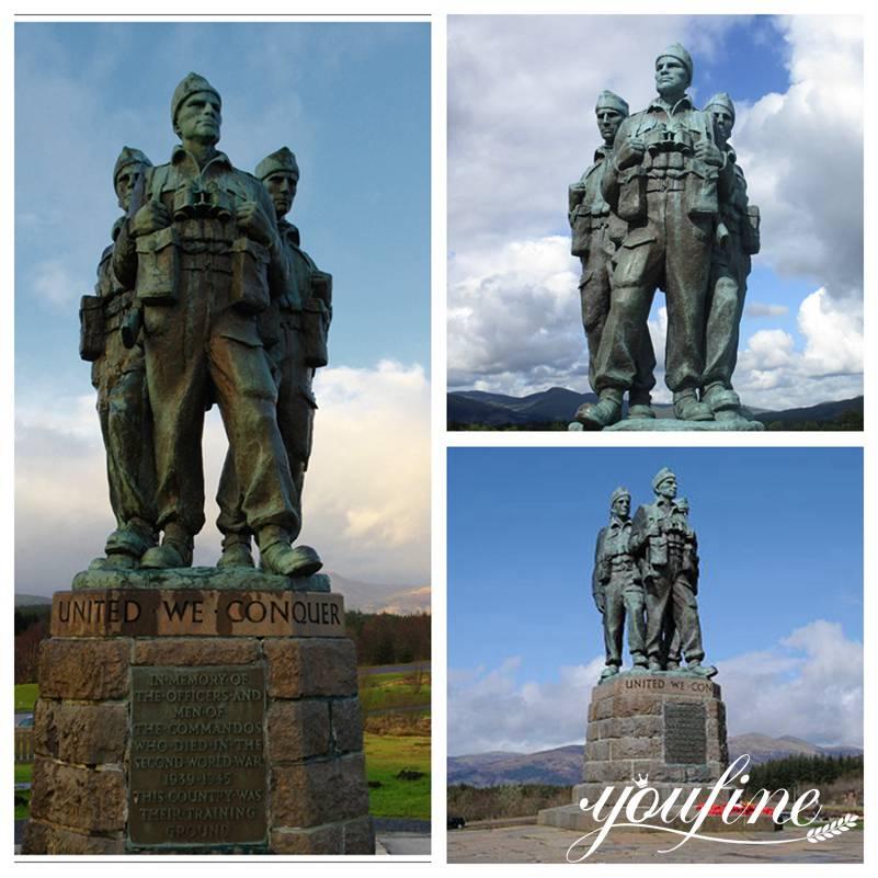 бронзовые военные статуи