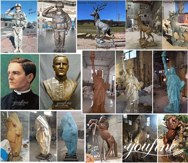изготовленная на заказ бронзовая статуя