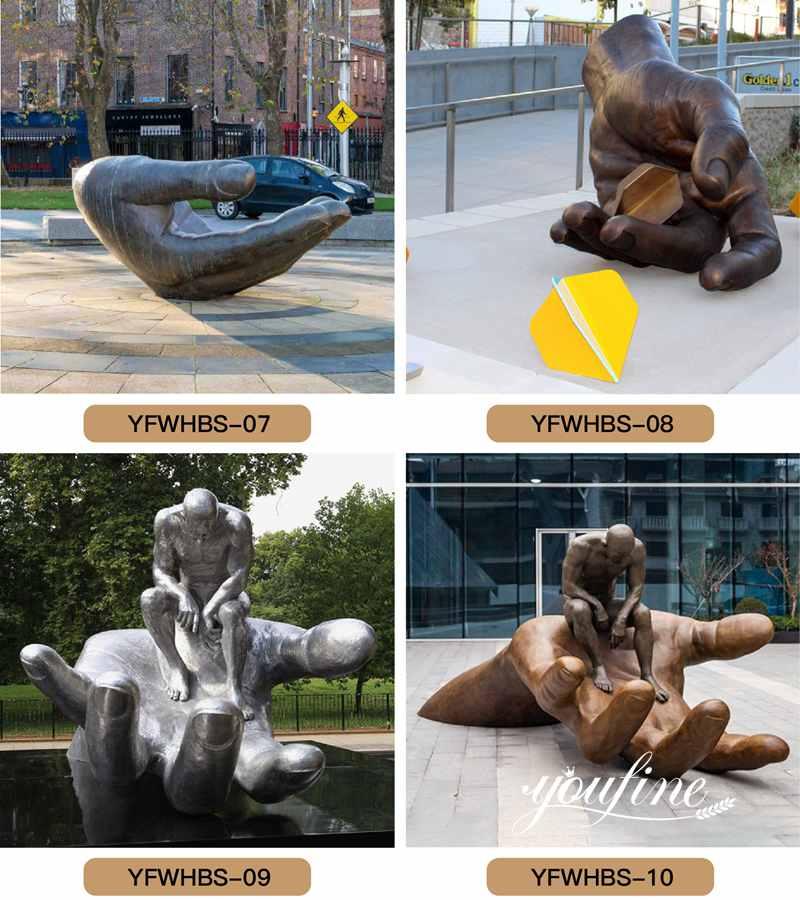 современная абстрактная бронзовая скульптура