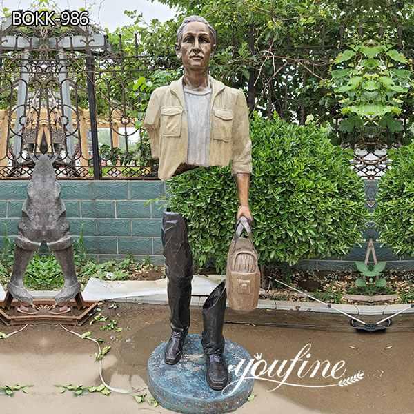 Бронзовая скульптура Путешественника Бруно Каталано в натуральную величину для продажи BOKK-986