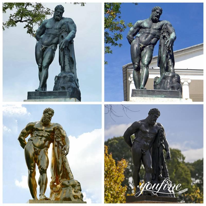 Бронзовая статуя Геркулеса Фарнезе в Натуральную Величину