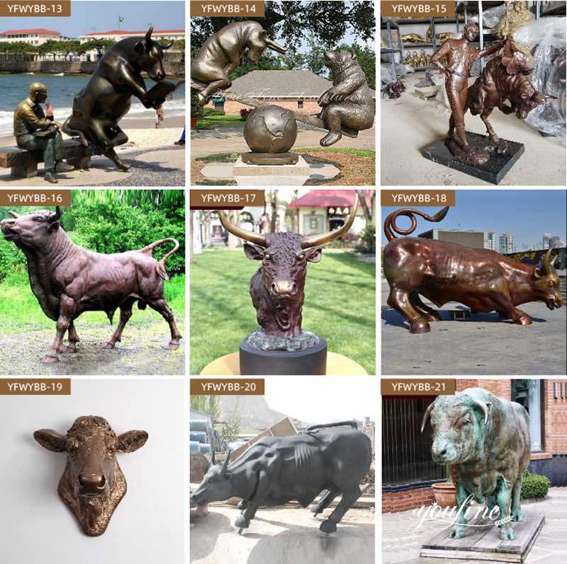 Бронзовая статуя быка