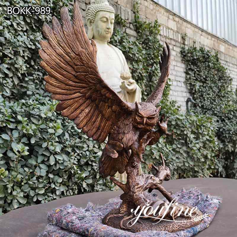 В натуральную Величину Античная Латунная Статуя Орла Домашний Декор для продажи BOKK-989