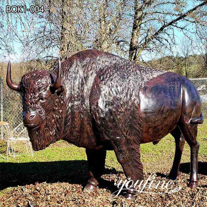 Сад Большая Бронзовая Статуя Бизона для продажи