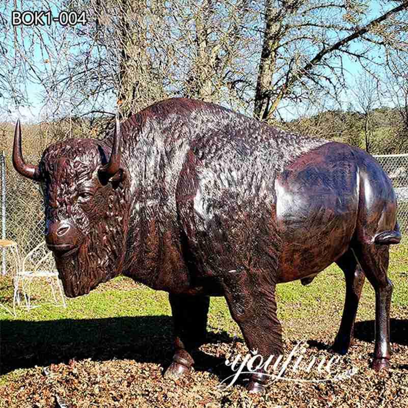 Сад Большая Бронзовая Статуя Бизона для продажи BOK1-004