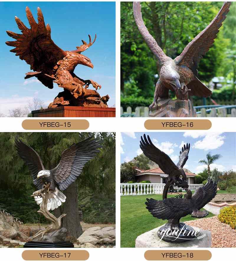 наружные бронзовые статуи орла