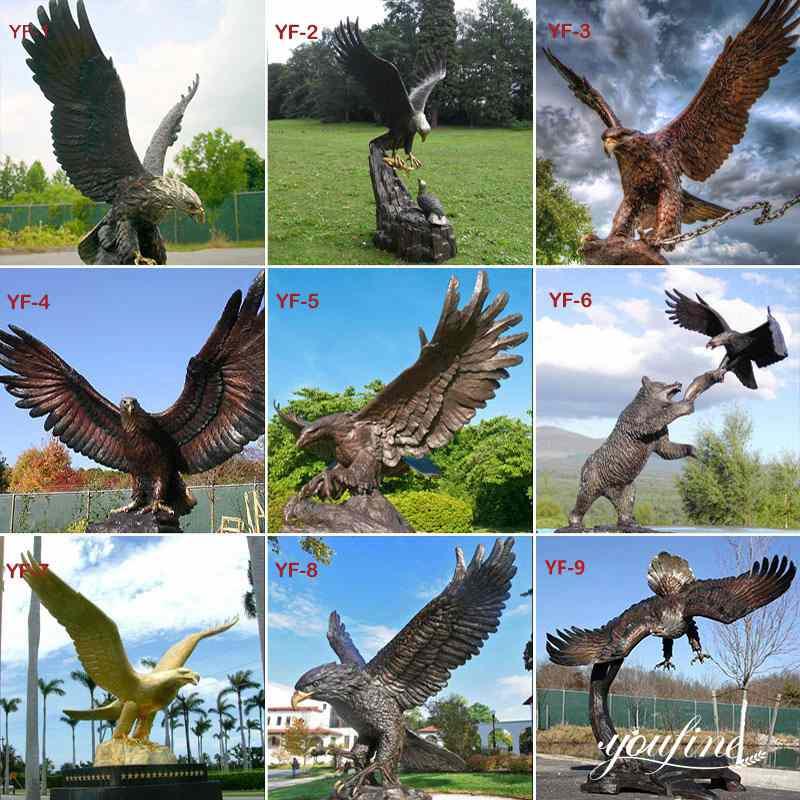 твердая бронзовая статуя орла