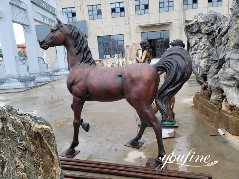 Античная Бронзовая Статуя Лошади Декор Фермы