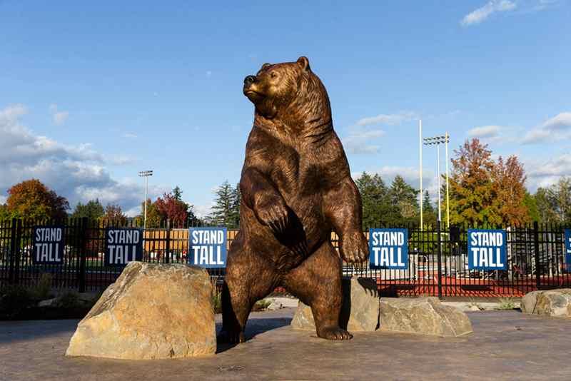 Большая Бронзовая Статуя Медведя