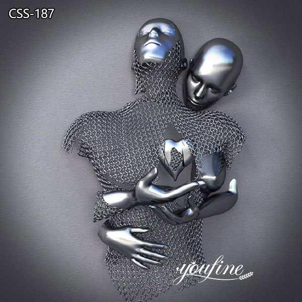 Любовь Дизайн Абстрактная Фигурная Скульптура из Нержавеющей Стали для продажи CSS-187
