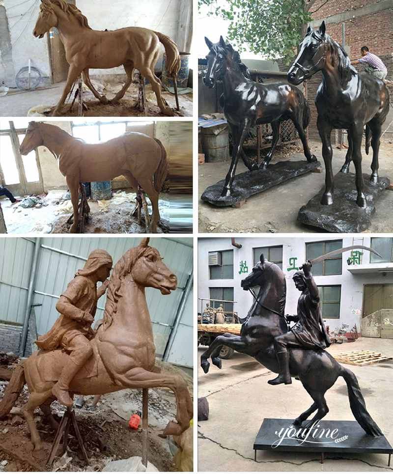 античная бронзовая статуя лошади